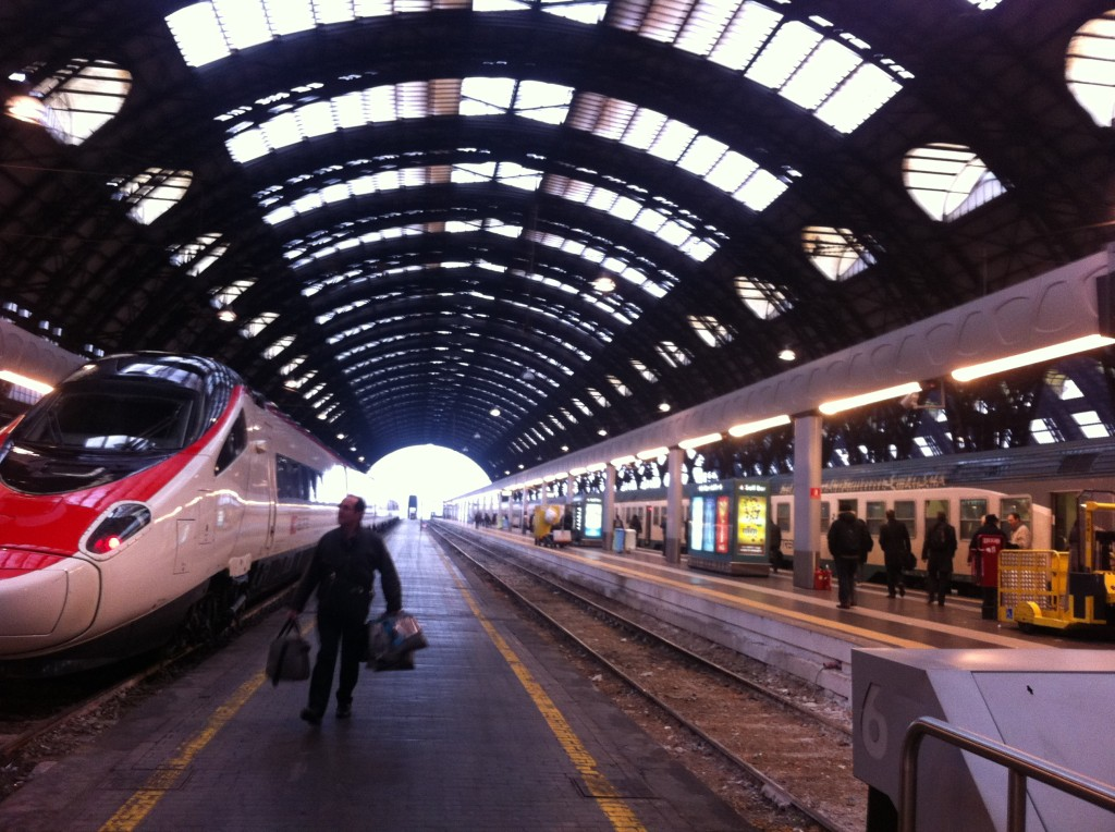 Passing trough Milano Centrale.