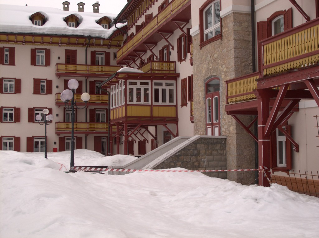 Ended up at the Shining hotel in Cortina